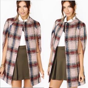 Ark & co Plaid Cape Size Small